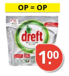 10 stuks Dreft Platinum Lemon All-In-One Vaatwastabletten @Plus