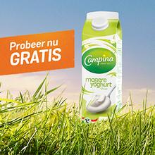Gratis Campina magere yoghurt 1L @ Eurosparen