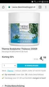Alle Therme producten 50 procent korting