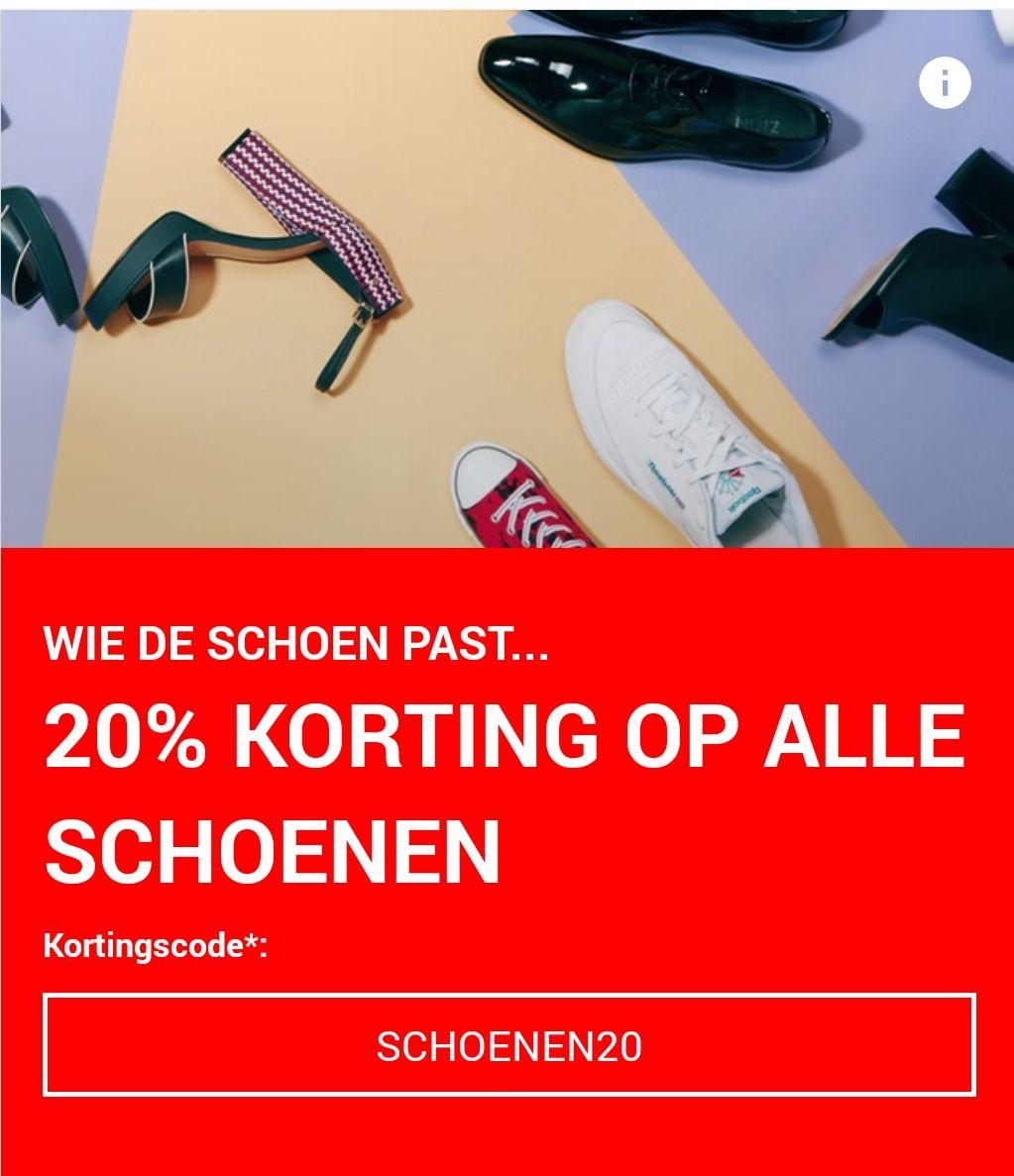 20% korting op alle schoenen @ Zalando