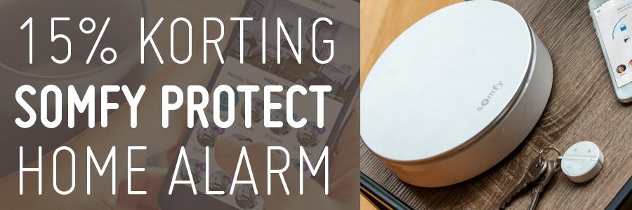 Tijdelijk 15% korting op Somfy Protect Home Alarm én de losse accessoires @ 50Five