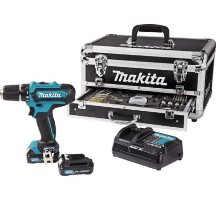 Makita DF331DSAX2 accuschroef-/boormachine incl. aluminium koffer met 59-delig accessoireset voor €149,00 @ Hornbach Zwolle