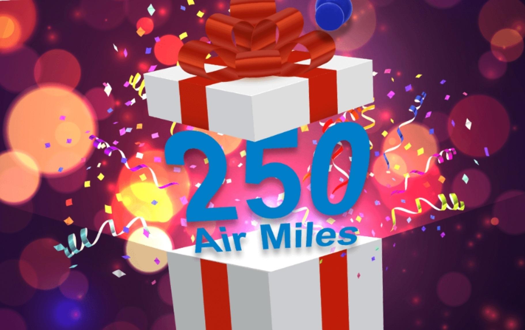 250 Air Miles gratis na het kijken van een jubileum filmje