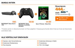 Grensdeal Saturn Xbox One X 1TB + Sea of Thieves & 2de controller (zwart)  voor €444 @ Saturn.de