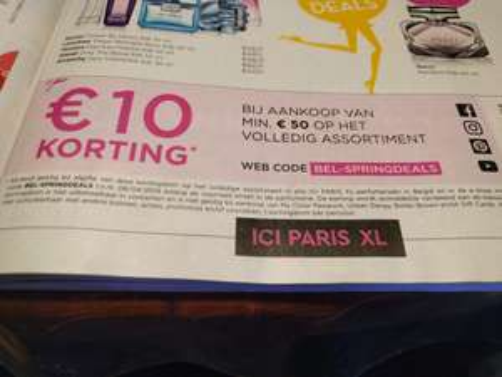 [BELGIË] 10 euro korting vanaf 50 euro ICI PARIS XL