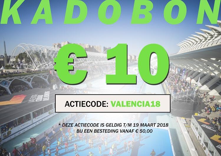 €10 korting bij besteding vanaf €50 bij www.hardloopaanbiedingen.nl