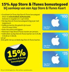 15% extra App Store & iTunes tegoed @ Kruidvat