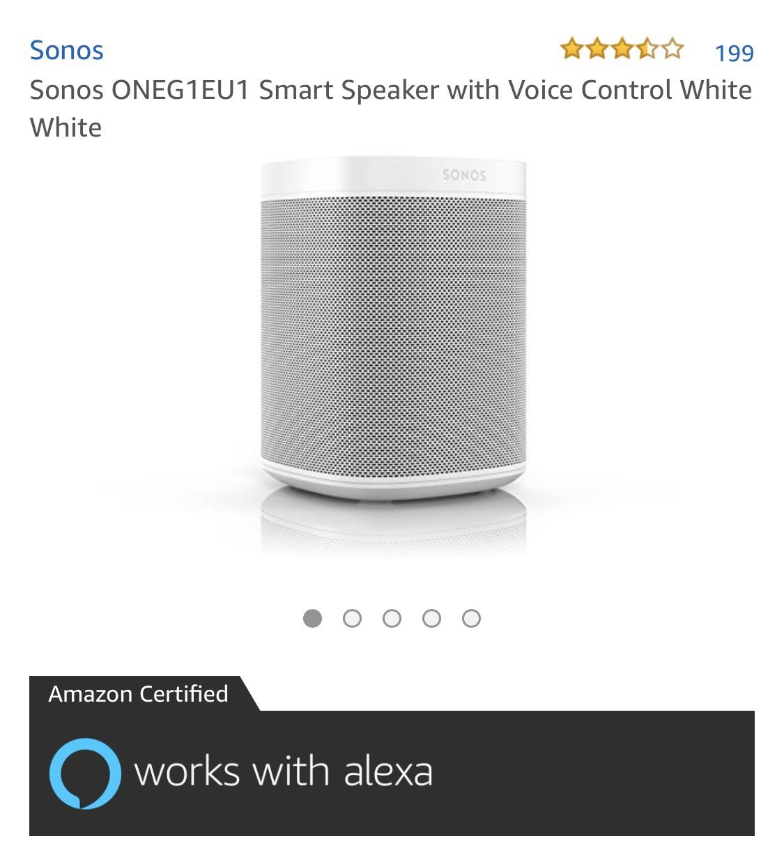 Sonos one voor €196,99 normaal €229