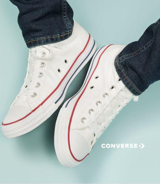 Tot 75% korting op Converse sneakers + kleding dames / heren / kids @ Zalando Lounge