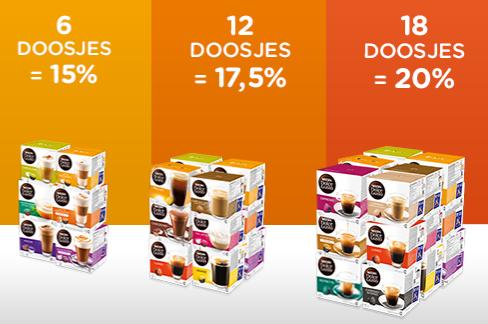 Tot 20% korting bij aankoop vanaf 6 doosjes @ Dolce-Gusto.nl