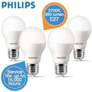 Vier Philips LED lampen voor €25,90