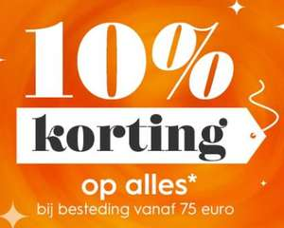 10% korting op alles* bij besteding vanaf 75,- @ Blokker.nl