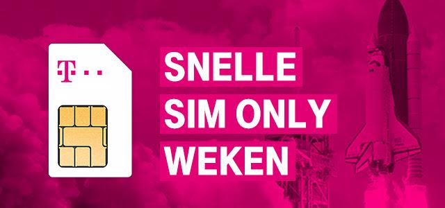 Snelle Sim Only Weken @ T-mobile