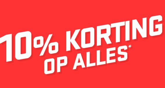 10% korting op bijna alles @ Shop4nl