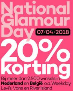 Glamour Day kortingscodes 7 April 2018