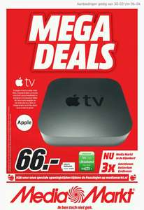 Apple TV (3rd generation) voor €66,- @ Media Markt