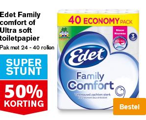 50% korting voordeelpak toiletpapier