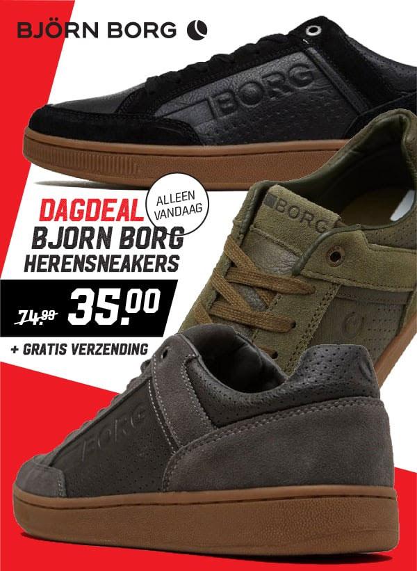 Dagdeal: Björn Borg heren sneakers €35 + gratis verzending @ Aktiesport