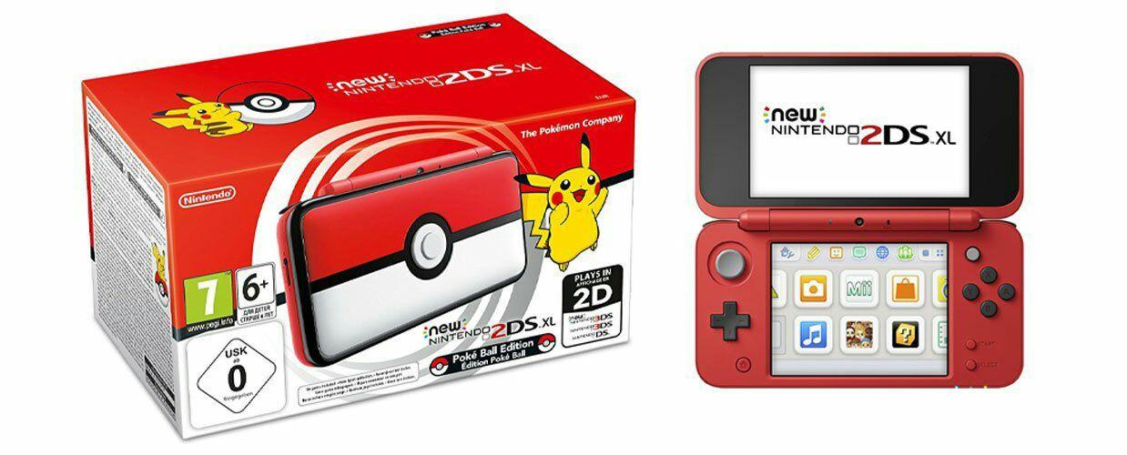 Nieuwe Nintendo 2DS XL pokeball-editie