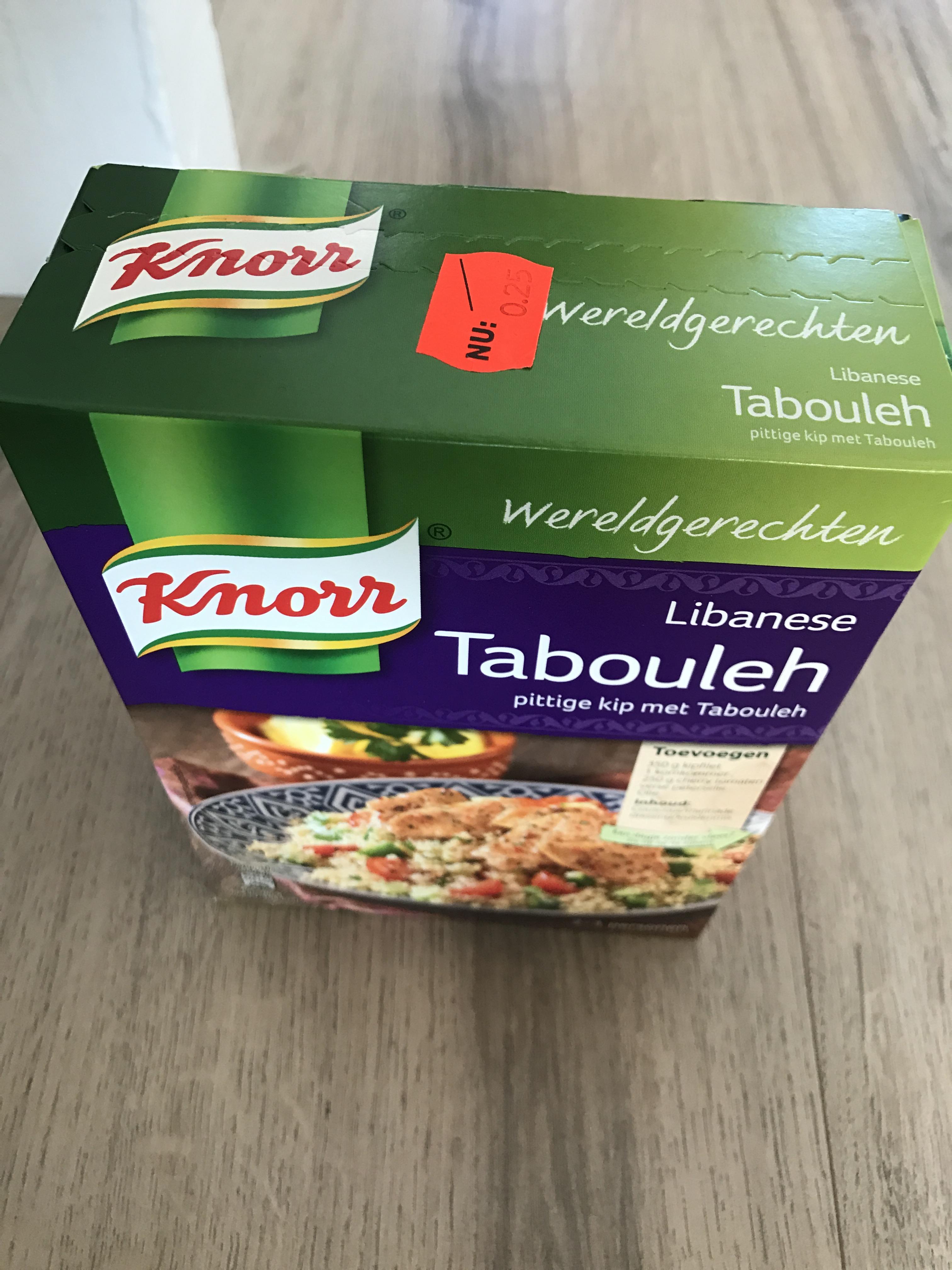Knorr wereldgerecht voor €0,25 ipv €2,65: Libanese Tabouleh @ Xenos