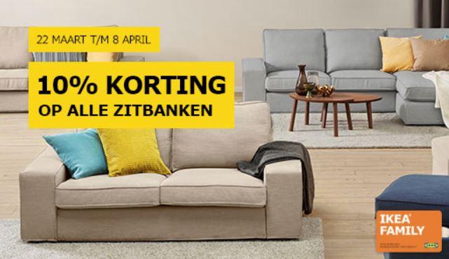 Alle zitbanken 10% korting @ IKEA