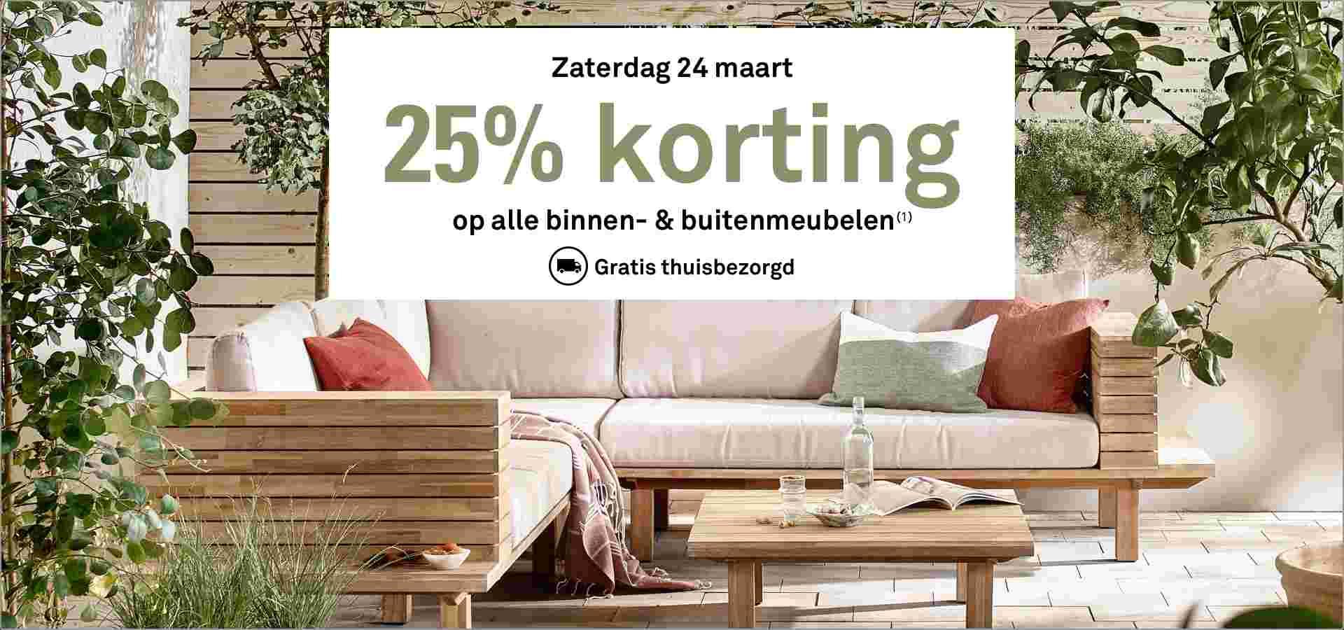 Zaterdag 24-03: 25% korting op (tuin) meubelen + gratis bezorgd @ Karwei