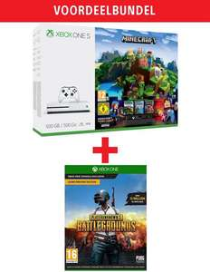 Xbox One S White 500GB + Minecraft + Minecraft - Story Mode + PlayerUnknown's Battlegrounds Game Preview Edition