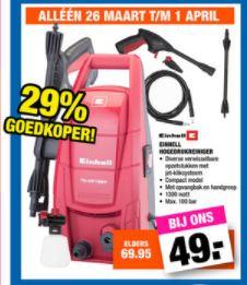 Einhell Hogedrukreiniger TC-HP 1334 voor €49 @ Big Bazar
