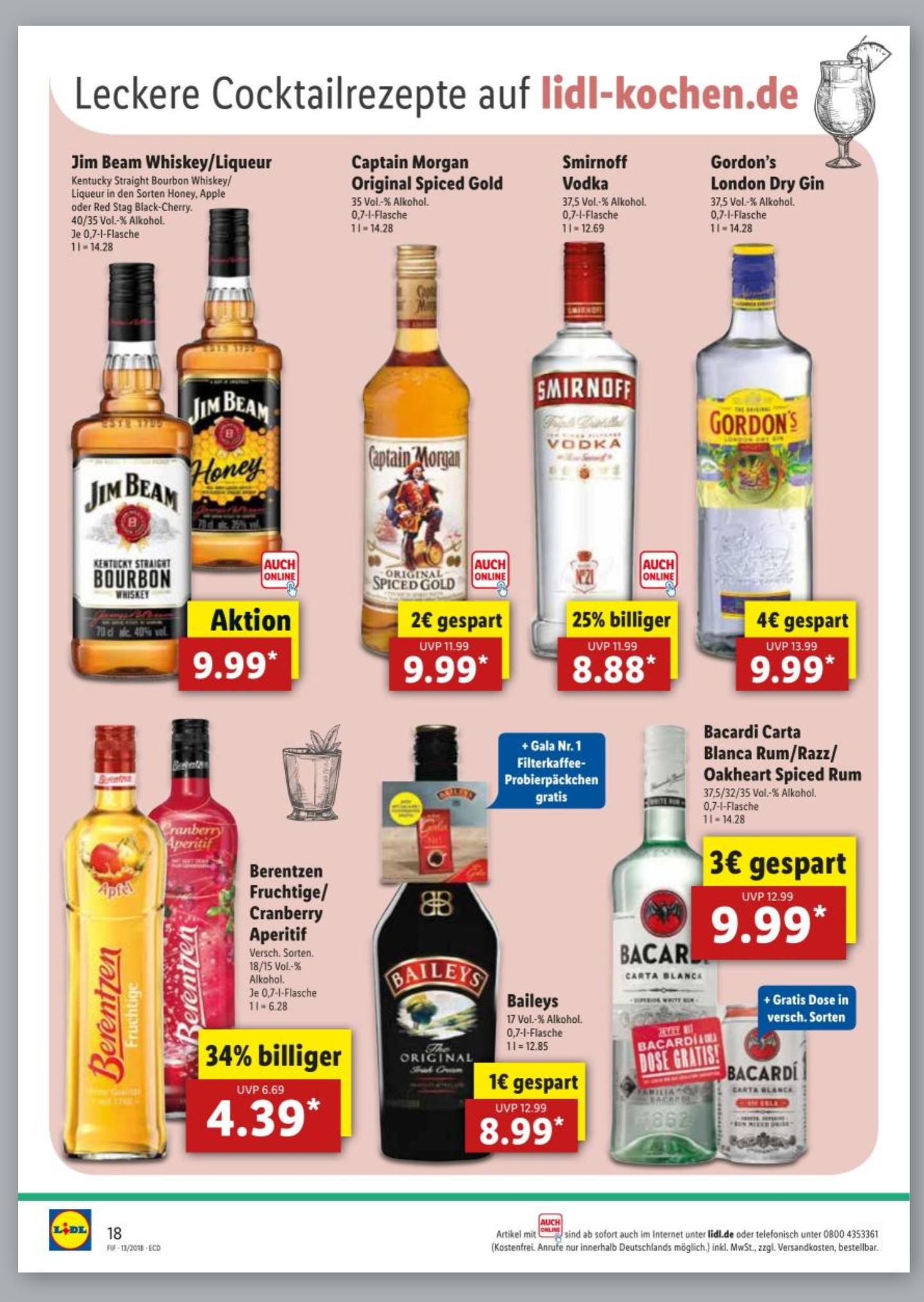 [GRENSDEAL DE] Lidl Duitsland sterke dranken