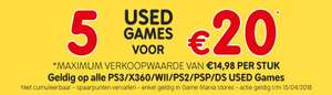 5 USED games voor €20 (PS3, PS2, PSP, X360, WII, DS) @ Gamemania winkels