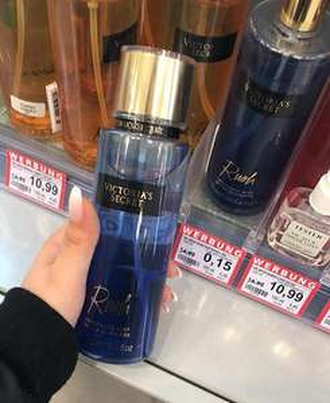 Victoria Secret rush mist 250ml van €10,99 naar €0,15 cent duitsland rosmann
