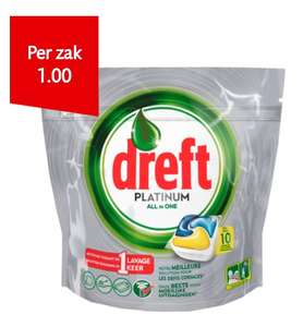 Dreft vaatwastabletten Platinum all in one lemon - 10 stuks - €1 @ Dirk / Dekamarkt