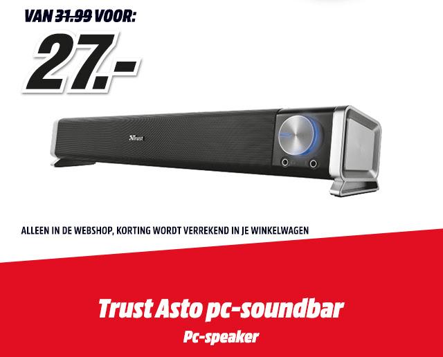 TRUST Asto pc-soundbar - €27 @ Mediamarkt