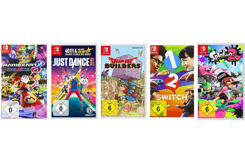 Nintendo Switch spellenbundels (5 games) vanaf €154,99 @ Amazon.de
