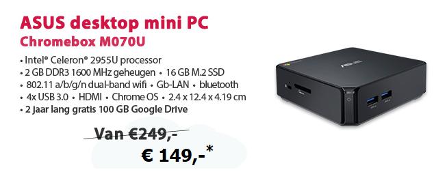 Asus Chromebox M070U Mini PC voor €149,- @ Alternate