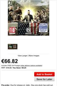 Far Cry 5 Gold Edition PS4 voor €66,82 @ Base.com