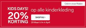 Kids Days: 20% korting op totale collectie + €5 / €10 extra @ C&A