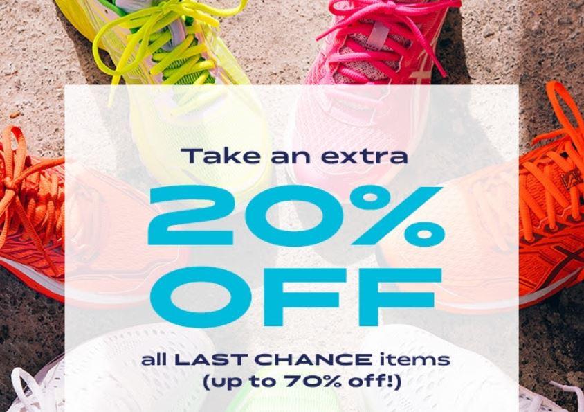 20% Extra korting op 'Last Chance' items met tot 70% korting @ Asics