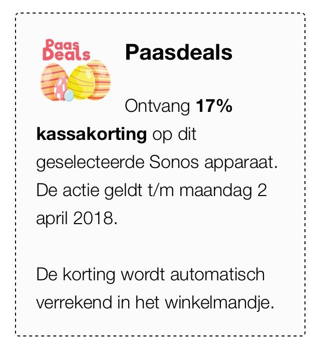 17% op Sonos en 15% op bose