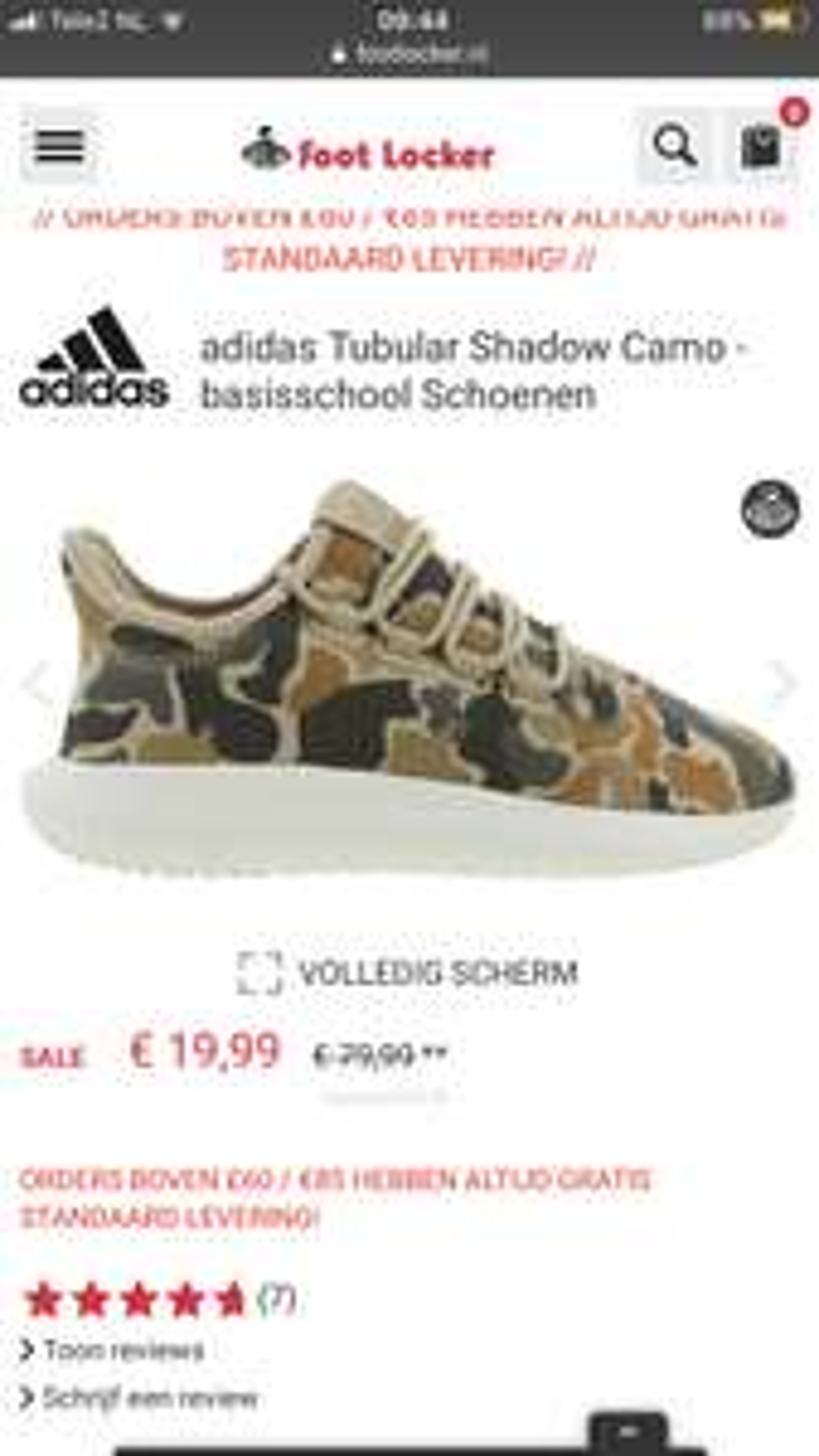 Adidas Tubular kids 19,99 @ footlocker