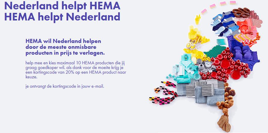 20% kortingscode @ HEMA