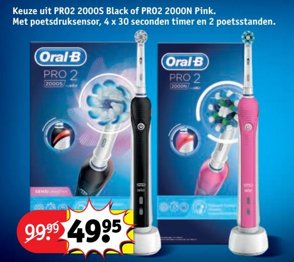 Oral-B Pro 2 2000S Elektrische Tandenborstel van 99 voor 49,95