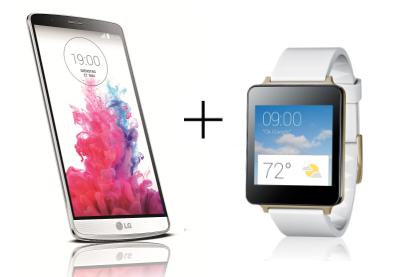 Gratis G Watch (smartwatch) t.w.v € 200 bij aankoop van LG G3 @ Amazon.de