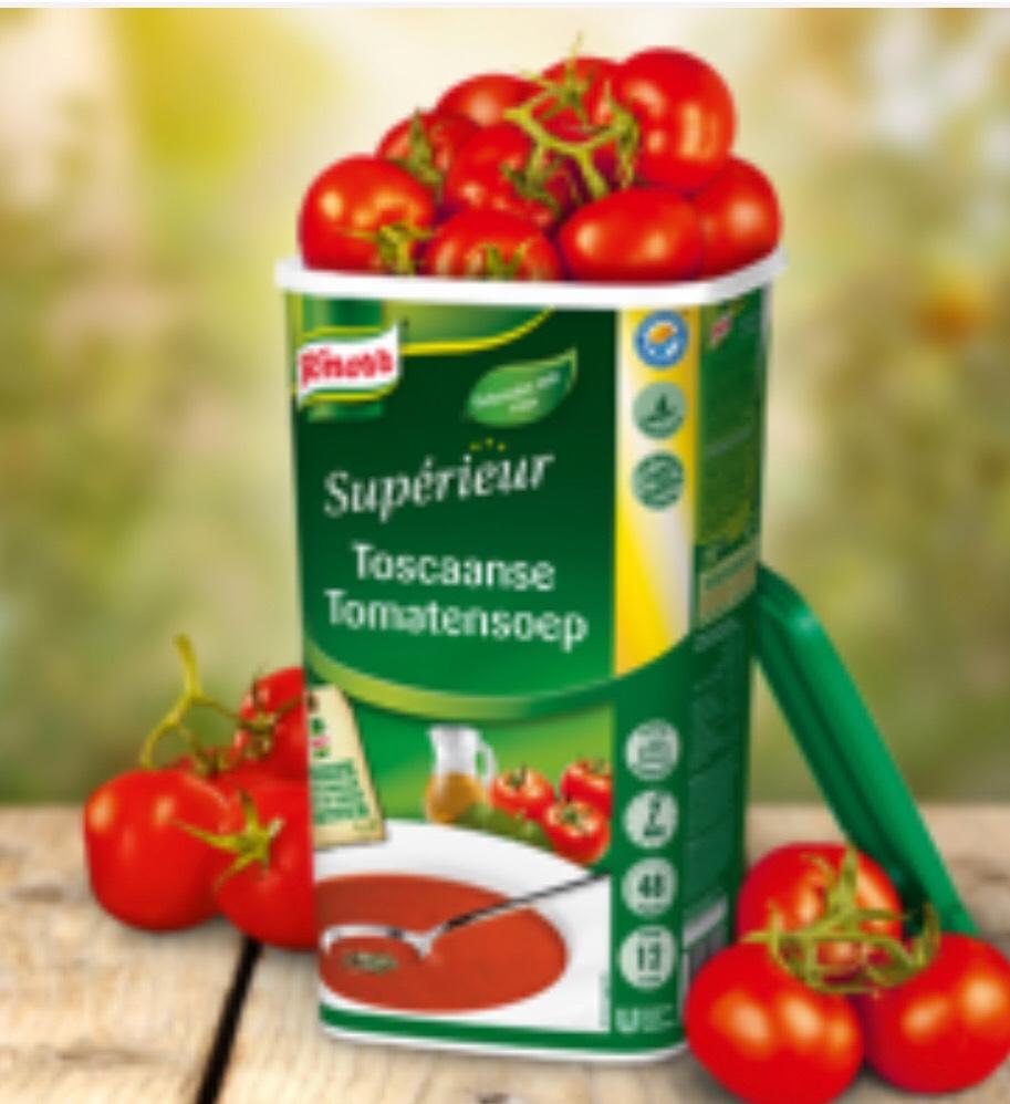 GRATIS 1.2kg Knorr Toscaanse Tomatensoep voor alleen professionals/bedrijven