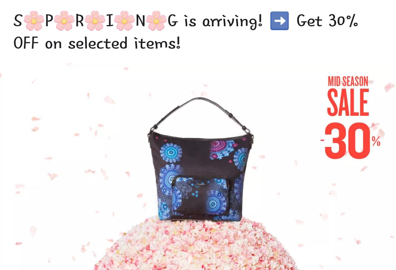 Mid season sale @Desigual tot 30% korting op tassen & accessoires