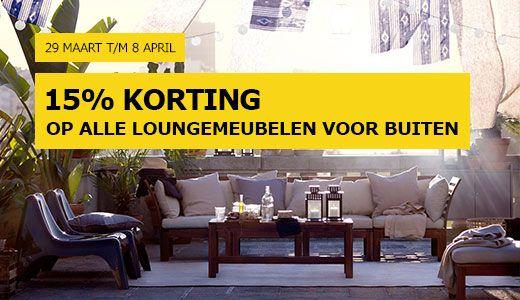 15% korting op lounge meubelen ikea