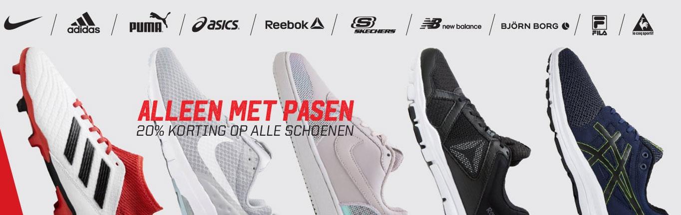Schoenen 20% (extra) korting + 10% extra met code @ Aktiesport
