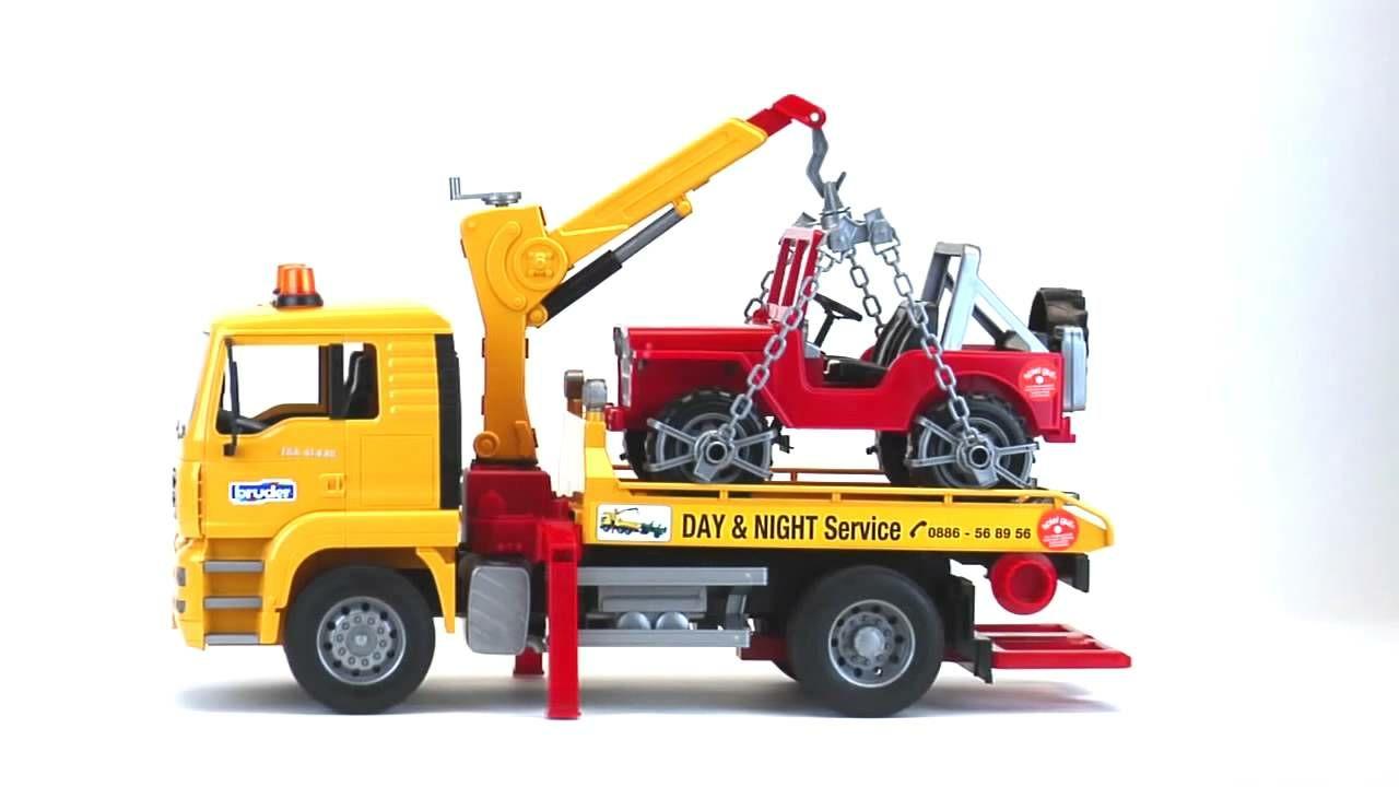 Bruder MAN TGA Vrachtwagen Sleepdienst Met Jeep 02750