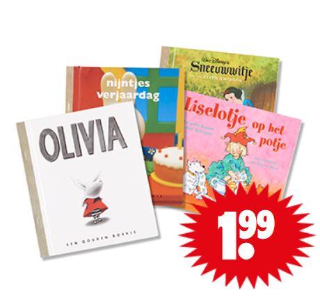 Kinderboeken (Gouden Boekjes + Liselotje) €1,99 @ Dirk / Dekamarkt