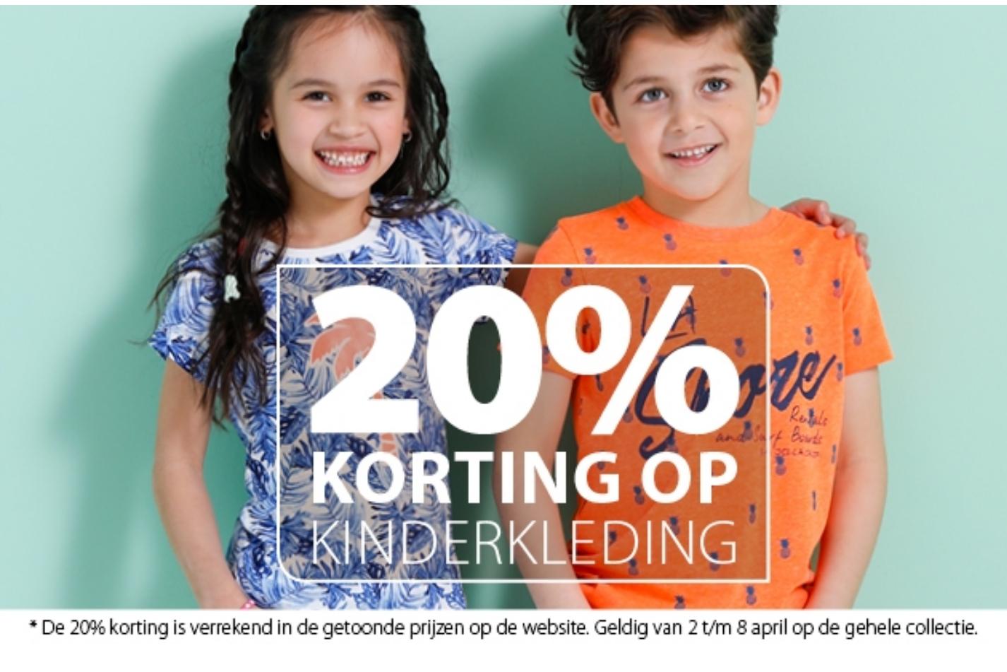Nu bij Terstal 20% op kinderkleding.